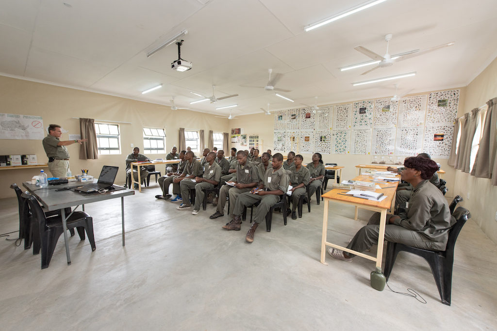 Field ranger students in one of the new Phase II classrooms built at the ranger base
